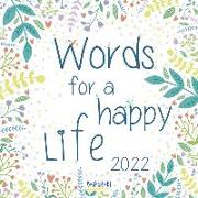 Cover-Bild zu Words for a happy life 2022