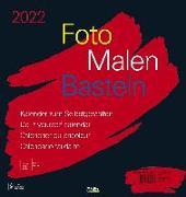 Cover-Bild zu Foto-Malen-Basteln Bastelkalender schwarz groß 2022