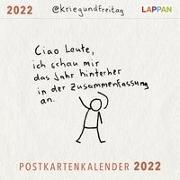 Cover-Bild zu @kriegundfreitag: @kriegundfreitag Postkartenkalender 2022