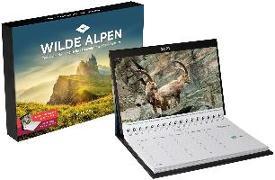 Cover-Bild zu KUNTH Verlag (Hrsg.): Wilde Alpen Tischkalender 2021
