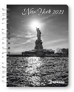 Cover-Bild zu Popkes, Christian: New York 2021 - Diary - Buchkalender - Taschenkalender - 16,5x21,6