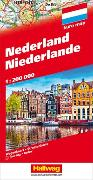 Cover-Bild zu Hallwag Kümmerly+Frey AG (Hrsg.): Niederlande Strassenkarte 1:200 000. 1:200'000