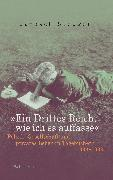 Cover-Bild zu Steuwer, Janosch: »Ein Drittes Reich, wie ich es auffasse« (eBook)