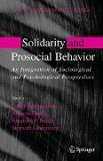 Cover-Bild zu Buunk, Abraham (Hrsg.): Solidarity and Prosocial Behavior