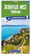 Cover-Bild zu Bodensee West 02 Wanderkarte 1:40 000 matt laminiert. 1:40'000