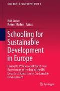 Cover-Bild zu Mathar, Reiner (Hrsg.): Schooling for Sustainable Development in Europe
