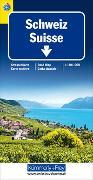 Cover-Bild zu Hallwag Kümmerly+Frey AG (Hrsg.): Schweiz TCS 2021 Strassenkarte 1:301 000. 1:301'000