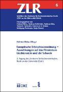Cover-Bild zu Appel, Alexander: Europäische Erbrechtsverordnung - Auswirkungen auf das Fürstentum Liechtenstein und die Schweiz