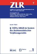 Cover-Bild zu Walch, Jasmin: § 1489a ABGB im System des liechtensteinischen Verjährungsrechts