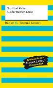 Cover-Bild zu Keller, Gottfried: Kleider machen Leute. Textausgabe mit Kommentar und Materialien