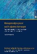 Cover-Bild zu Managementprognosen und Analystenschaetzungen (eBook) von Lehmann, Kai