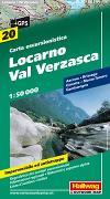 Cover-Bild zu Hallwag Kümmerly+Frey AG (Hrsg.): Locarno-Val Verzasca Wanderkarte Nr. 20, 1:50 000. 1:50'000