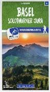 Cover-Bild zu Hallwag Kümmerly+Frey AG (Hrsg.): Basel / Solothurner Jura 05 Wanderkarte 1:40 000 matt laminiert. 1:40'000