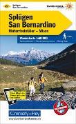 Cover-Bild zu Hallwag Kümmerly+Frey AG (Hrsg.): Splügen-San Bernardino, Hinterrheintäler, Misox Wanderkarte nr. 27. 1:60'000