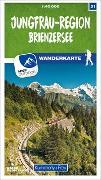 Cover-Bild zu Hallwag Kümmerly+Frey AG (Hrsg.): Jungfrau-Region / Brienzersee 31 Wanderkarte 1:40 000 matt laminiert. 1:40'000