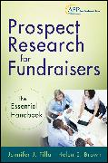 Cover-Bild zu Filla, Jennifer J.: Prospect Research for Fundraisers (eBook)