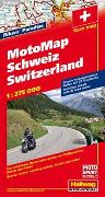 Cover-Bild zu Schweiz MotoMap 1:275 000 Motorradkarte. 1:275'000