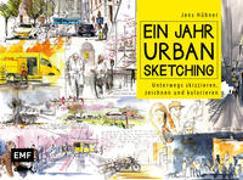 Cover-Bild zu Ein Jahr Urban Sketching von Hübner, Jens