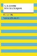 Cover-Bild zu Lessing, Gotthold Ephraim: Miss Sara Sampson. Textausgabe mit Kommentar und Materialien