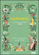 Cover-Bild zu DUMONT Kalender (Hrsg.): Happiness 2022 - Wochenkalender mit Illustrationen und Texten - Zum Aufhängen - DIN A4 - Spiralbindung