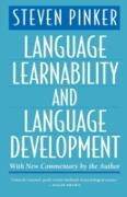 Cover-Bild zu Language Learnability and Language Development, With New Commentary by the Author (eBook) von Steven Pinker, Pinker