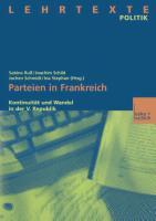 Cover-Bild zu Parteien in Frankreich von Ruß, Sabine (Hrsg.)