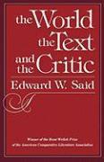 Cover-Bild zu Said, Edward W.: The World the Text & the Critic