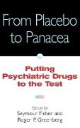 Cover-Bild zu From Placebo to Panacea von Fisher, Seymour (Hrsg.)