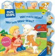 Cover-Bild zu ministeps: Wer macht Miau? Wer bellt Wau-wau? von Grimm, Sandra