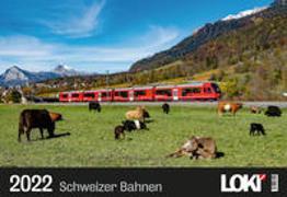 Cover-Bild zu LOKI Kalender Schweizer Bahnen 2022