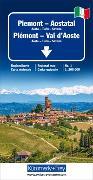 Cover-Bild zu Hallwag Kümmerly+Frey AG (Hrsg.): Piemont - Aostatal Regionalkarte Italien Nr. 1. 1:200'000