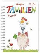 Cover-Bild zu Helme Heine Familienplaner Buch A5 Kalender 2022 von Heine, Helme