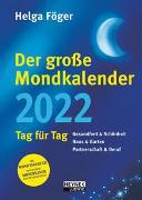 Cover-Bild zu Der große Mondkalender 2022 von Föger, Helga