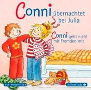 Cover-Bild zu Conni übernachtet bei Julia / Conni geht nicht mit Fremden mit von Schneider, Liane