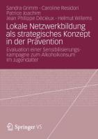 Cover-Bild zu Grimm, Sandra: Lokale Netzwerkbildung als strategisches Konzept in der Prävention