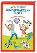Cover-Bild zu Mein bunter Kindergarten-Block: Malspiele und Rätsel von Sörensen, Hanna