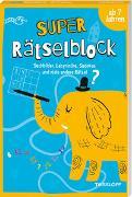Cover-Bild zu Super Rätselblock ab 7 Jahren. Suchbilder, Labyrinthe, Sudokus und viele andere Rätsel von Heine, Stefan