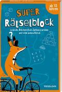 Cover-Bild zu Super Rätselblock ab 10 Jahren.Logicals, Brückenrätsel, Zahlenpyramiden und viele andere Rätsel von Heine, Stefan