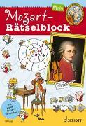 Cover-Bild zu Mein Mozart-Rätselblock von Blaschke, Maren (Illustr.)