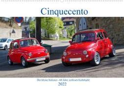 Cover-Bild zu Cinquecento Der kleine Italiener - 60 Jahre zeitloses Kultobjekt (Wandkalender 2022 DIN A2 quer) von Eisold, Hanns-Peter