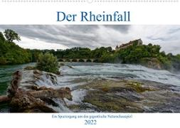 Cover-Bild zu Der Rheinfall - Ein Spaziergang um das gigantische Naturschauspiel (Wandkalender 2022 DIN A2 quer) von Eisold, Hanns-Peter