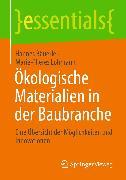 Cover-Bild zu Ökologische Materialien in der Baubranche (eBook) von Lohmann, Marie-Theres