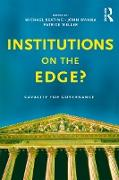 Cover-Bild zu Institutions on the edge? (eBook) von Weller, Patrick (Hrsg.)