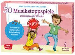Cover-Bild zu 30 Musikstoppspiele. Bildkarten für Kinder von Gulden, Elke