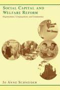 Cover-Bild zu Social Capital and Welfare Reform von Schneider, Jo Anne