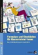 Cover-Bild zu Formulare und Checklisten für Klassenlehrer/-innen von Frieß, Anne