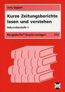 Cover-Bild zu Kurze Zeitungsberichte lesen und verstehen von Eggert, Jens