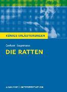 Cover-Bild zu Die Ratten von Gerhart Hauptmann. Textanalyse und Interpretation mit ausführlicher Inhaltsangabe und Abituraufgaben mit Lösungen (eBook) von Hauptmann, Gerhart