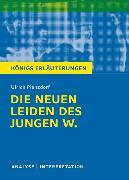 Cover-Bild zu Die neuen Leiden des jungen W. von Ulrich Plenzdorf. Textanalyse und Interpretation mit ausführlicher Inhaltsangabe und Abituraufgaben mit Lösungen (eBook) von Plenzdorf, Ulrich