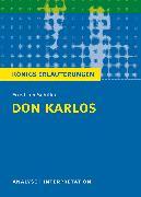 Cover-Bild zu Don Karlos von Friedrich Schiller. Königs Erläuterungen (eBook) von Bernhardt, Rüdiger